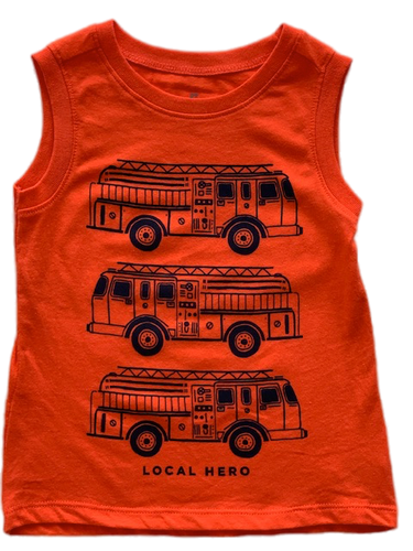 Orange Train Tank Top