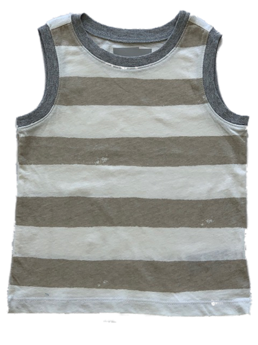Beachy Biege Stripped Tank Top