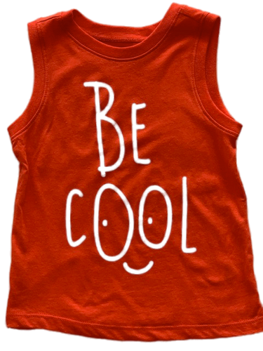 Be Cool Orange Tank Top