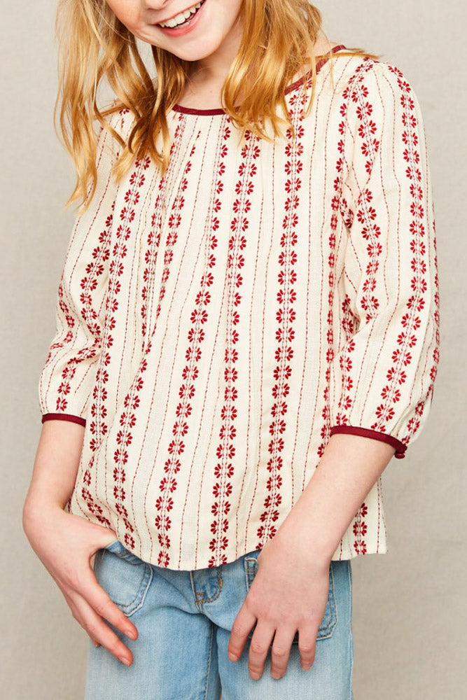 Cherry Cotton Printed Top