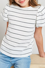 Load image into Gallery viewer, Stripe Puff Sleeve Tee