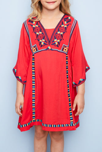 Tomato Bell Sleeved Dress