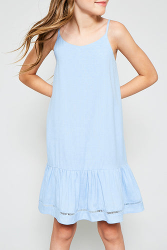 Ruffle Hem Tank Dress