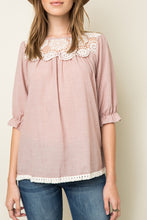 Load image into Gallery viewer, Rose Lace Woven Tunic