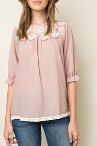 Rose Lace Woven Tunic
