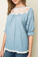 Load image into Gallery viewer, Seafoam Lace Woven Tunic