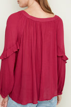 Load image into Gallery viewer, Plum Ruffle Tunic