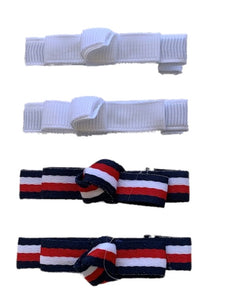 Red White and Navy Clips (4) Pieces