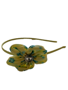 Yellow Floral Prarie Headband
