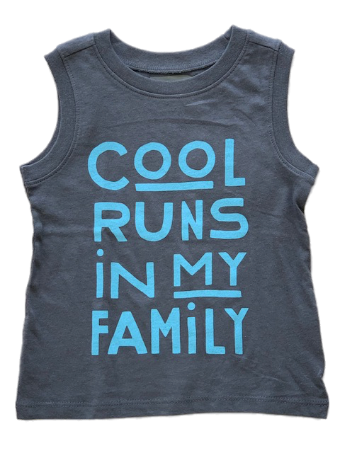 Cool Run's In My Family Gray Tank Top