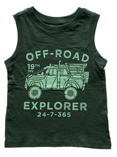 Army Green Off-Road Explorer Tank Top