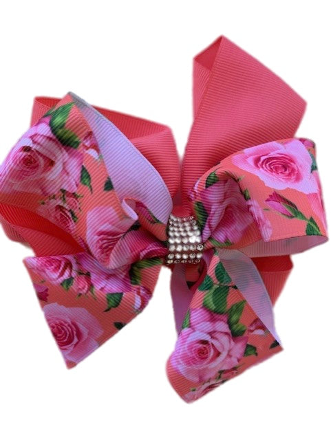 Floral Bow with Crystals
