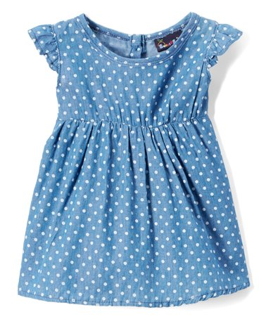 Toddler Polka Dot Jean Dress