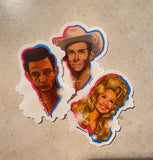 'Country Pack' Clear Vinyl Stickers