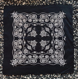 Wildwood Flower Bandana - Black & White