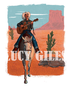 The Singing Cowboy (day) Print