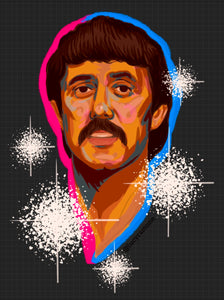 'Lee Hazlewood' Clear Vinyl Sticker *LIMITED EDITION*