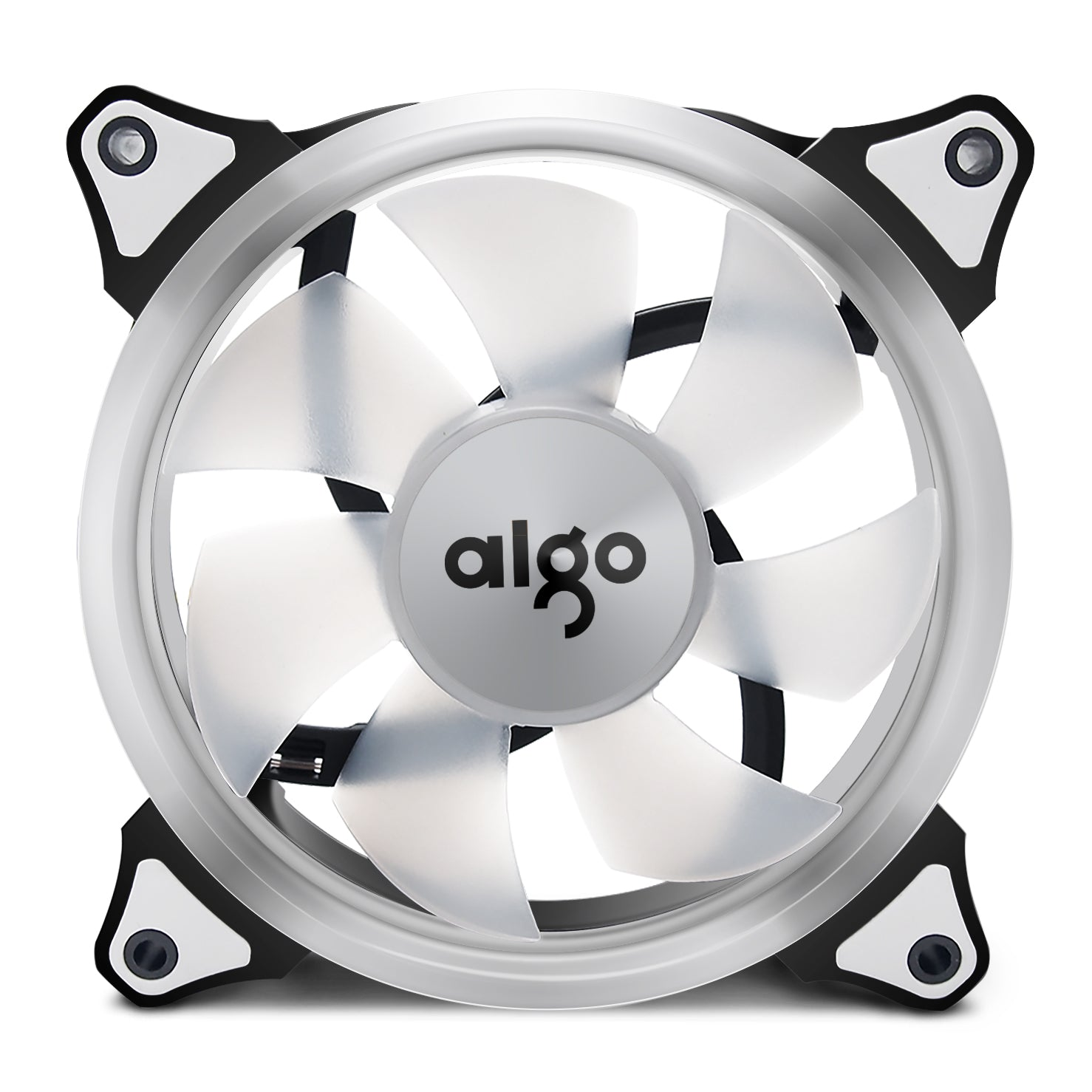 Aigo Halo Ring White LED 140mm 14cm PC Computer Case Cooling Neon Quite Clear Fan Mod 4 Pin/3 Pin