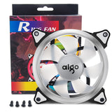 Aigo Halo Ring Ice Blue LED 140mm 14cm PC Computer Case Cooling Neon Quite Clear Fan Mod 4 Pin/3 Pin