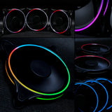 darkFlash MR12 3IN1 120mm RGB LED Case Fan for PC Cases Addressable RGB Case Fan with Controller