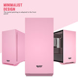 darkFlash DLM22 Pink MicroATX Computer Case with Door Opening Tempered Glass Side Panel