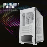 darkFlash DLM21 White Micro Computer Case with Door Opening Tempered Glass Type Side Panel