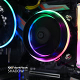 darkFlash ShadowPro PWM Aluminum CPU LED Addressable RGB Motherboard Control Cooler Motherboard Sync