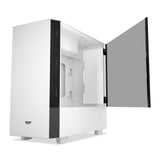 darkFlash V22 White Mid Tower ATX Case Open Door Tempered Glass Panel&Vertical Graphics Card Instal