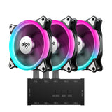 Aigo Aurora RGB Case Fan RGB LED 120mm Adjustable Colorful PC Case Cooling with Controller(C3 Kit)