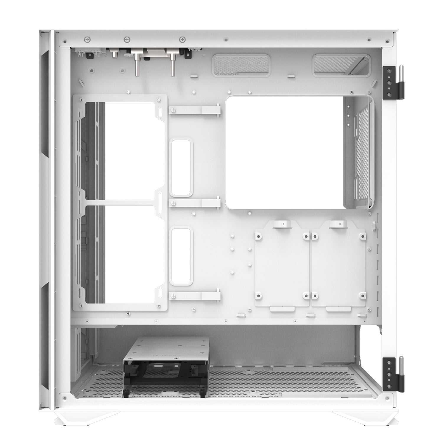 darkFlash DLX22 White ATX Computer Case with Graphics card holder & Mesh Front Panel