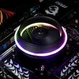 darkFlash Shadow PWM Aluminum CPU Air Cooler LED Addressable RGB MB Sync for Intel Core i7/i5/i3