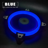 Aigo Halo Ring Blue LED 140mm 14cm PC Computer Case Cooling Neon Quite Clear Fan Mod 4 Pin/3 Pin