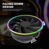 darkFlash DARKVOID Top-Flow Air CPU Cooling Cooler heatsink with 125mm LED Fan for Intel and AMD