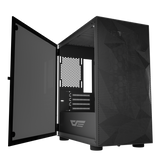darkFlash DLM21 MESH Mini ITX M-ATX Computer Case with Tempered Glass Side Panel & Mesh Front Panel