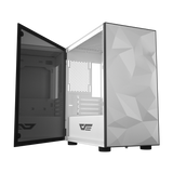 darkFlash DLM21 Mini ITX Tower M-ATX Computer Case with Door Opening Tempered Glass Type Side Panel