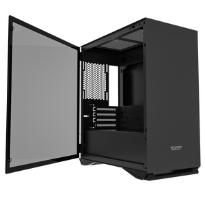 darkFlash DLM22 Mini ITX Tower M-ATX Computer Case with Door Opening Tempered Glass Type Side Panel