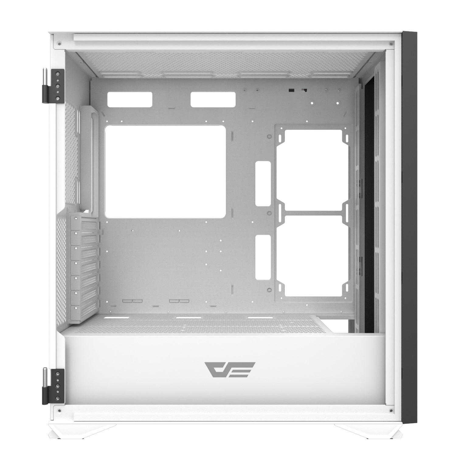 darkFlash DLX21 MESH White ATX Computer Case with Graphics card holder & Mesh Front Panel