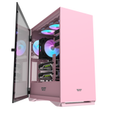 darkFlash DLX22 Neo Pink ATX Computer Case with Door Opening Design & Graphics card holder
