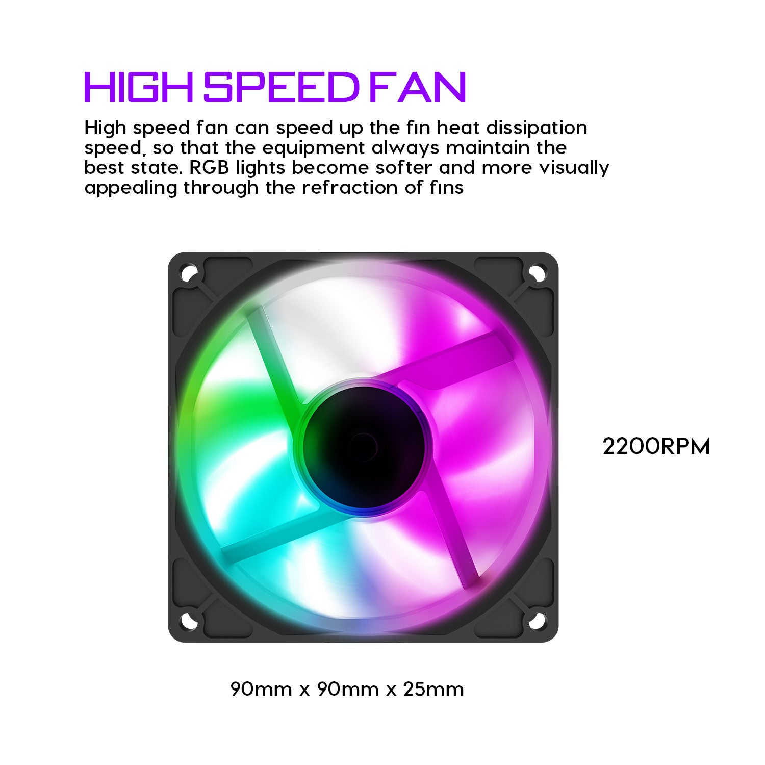 darkFlash L6 CPU Air Cooler 6 Heat Pipes Twin-Tower Heatsink with 90mm Rainbow LED Fans