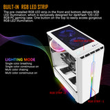 darkFlash T20 ATX Mid-Tower Gaming Case Tempered Glass with 1pcs 120mm LED Rainbow Fan Pre-Installed
