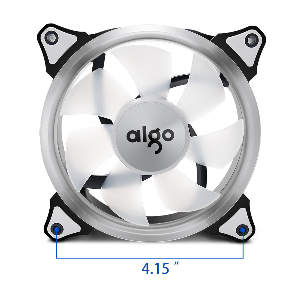 Aigo Halo Ring Red LED 120mm 12cm PC Computer Case Cooling Neon Quite Clear Fan Mod 4 Pin/3 Pin