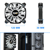 Aigo, Halo Ring LED 120/140mm 12/14cm PC Computer Case Cooling Neon Quite Clear Fan Mod 4 Pin/3 Pin