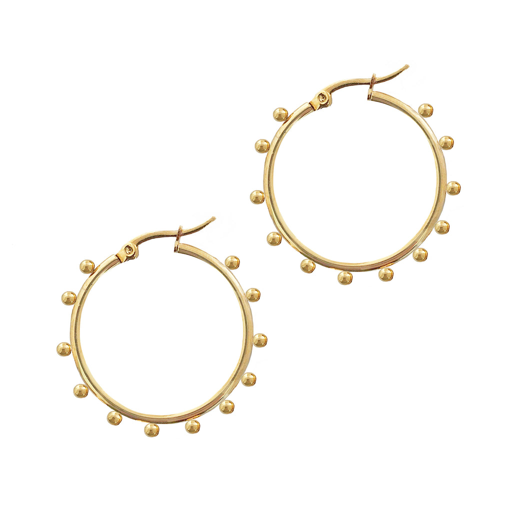 THE INDI BALL HOOPS GOLD 35mm