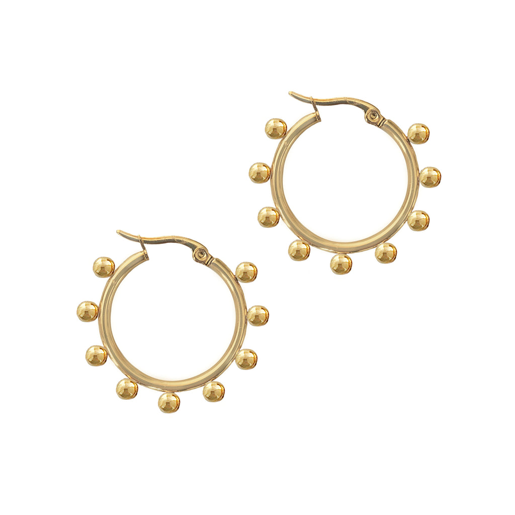 THE INDI BALL HOOPS GOLD 30mm