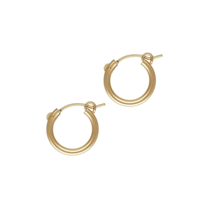 BASIC HOOP 15mm • 14K GOLDFILLED