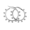 THE INDI BALL HOOPS SILVER