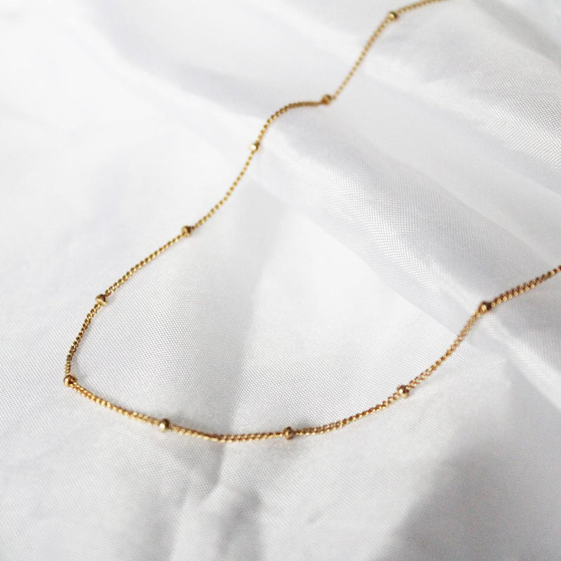 THE SATELLITE NECKLACE • 22K GOLD VERMEIL