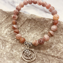 Load image into Gallery viewer, Handmade Natural Stone Stackable Bracelet with Charm