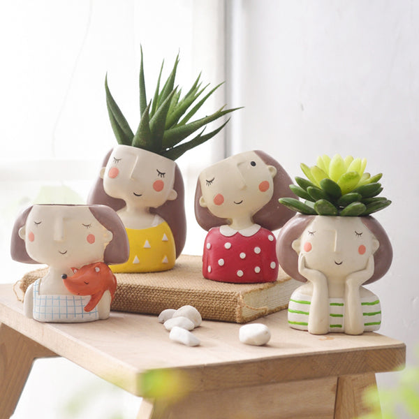 Flower Girl Planter Set - 4pcs