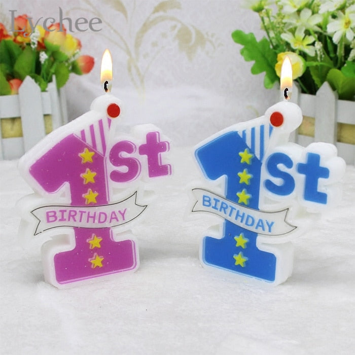 Load Image Into Gallery Viewer Kids 1st Birthday Scented Cake Candles
